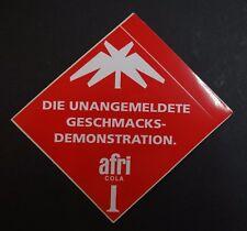 Aufkleber AFRI Cola 80er Jahre Sticker Kult Köln Bluna Sticker