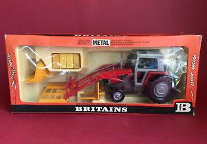 1979- Britains 1/32 Massey Ferguson 595 Front Loader Set No9595 MIB
