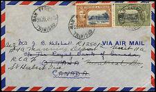 Trinité-et-Tobago 1941 kgvi couverture à Canada #C 16406