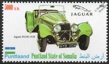 1938 JAGUAR SS100 Sports Car Automobile Stamp