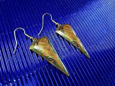 NEW Cloisonne Oriental Antique Theme Quality Fashion Earring Jade Green Rose Gol