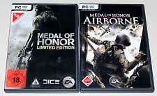 2 PC SPIELE SET - MEDAL OF HONOR - AIRBORNE & MOH LIMITED EDITION