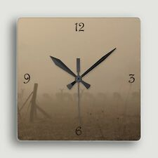 Deer in the Mist ~ SQUARE WALL CLOCK ~ Design w/Magical Scene / Functional Art