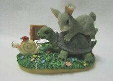 Fitz & Floyd Charming Tails Figurine 1998 Limited Edition Steady Wins The Race