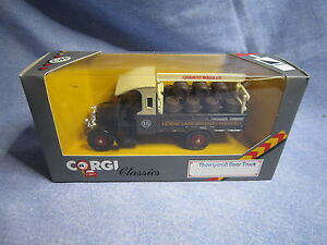 ZA201 CORGI CLASSICS THORNYCROFT BEER TRUCK CHARLES WELLS 1/50 C867/1 NB
