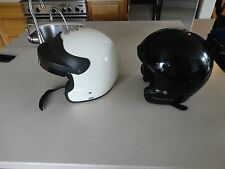 2 Used Helmets  BELL one Harley Davidson one SNELL M2000 White Race Size Med.