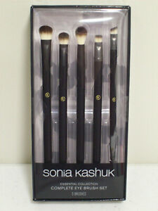 Sonia Kashuk Complete Eye Brush Set Essential Collection 5 Brushes NIB Sealed