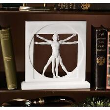 Renaissance Vitruvian Man Leonardo da Vinci Bonded Marble Sculpture