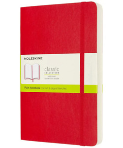 MOLESKINE Classic Large Soft Cover Plain Notebook - A5 - Free P&P - BRAND NEW