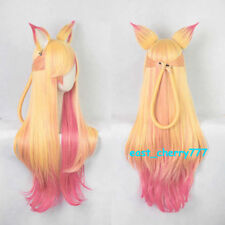 League of Legends LOL Ahri Star Guardian wig the Nine Tailed Fox Cosplay Wigs
