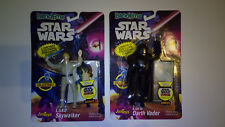Vintage Star Wars Vader & Luke Bend-Ems Figuren von JusToys Neu & OVP