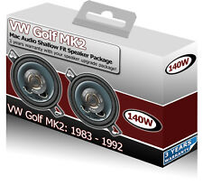 "VW Golf MK2 Front Dash speakers Mac Audio 3.5"" 87mm car speaker kit 140W"