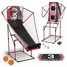 Indoor Activity 3-In-1 Arcade Sport Center Basketball Baseball & Football