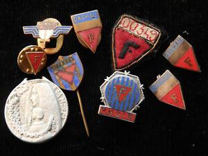U11O) Lot de décorations et insignes ancien déporté à Dachau ww2 39 45 MEDAL