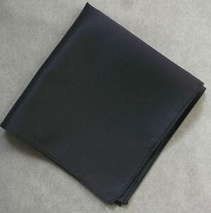 Fazzoletto Uomo Top Tasca Quadrato Grigio Antracite 30cm X 30cm Nuovo