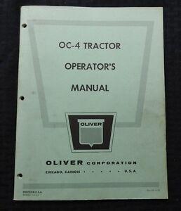 GENUINE 1964 OLIVER OC-4 GASOLINE CRAWLER TRACTOR OPERATORS MANUAL GOOD SHAPE