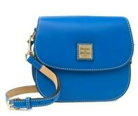 Dooney & Bourke Beacon Leather Saddle Crossbody Shoulder Bag in Royal Blue
