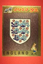 Panini EURO 92 N. 92 ENGLAND BADGE NEW WITH BLACK BACK TOP MINT!!