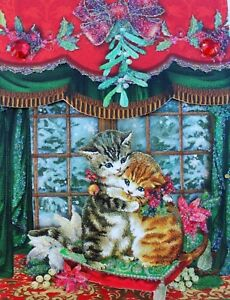 *PUNCH STUDIO Mini 75 Sheet Glitter Pocket Note Pad ~ Christmas ~ Cats ~ Kittens