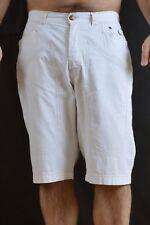 JECKERSON Pantaloncini Da Uomo Bermuda Pantaloni Crema a Righe Pantaloni W33 VINTAGE 90s BELLO
