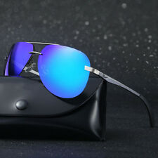 Unisex Vintage Polarized Lens Aviator Sunglasses Metal Frame Driving Eyewear