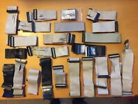 LOT OF 23 CABLES 34 Pin Floppy Diskette Drive Ribbon Flat Cable 3.5 & 5.25 X23