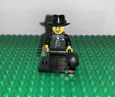 LEGO 8805 Minifigure Series #5 GANGSTER MAN Violin Case Gun Fedora Hat Minifig