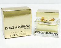 THE ONE BY DOLCE & GABBANA MINI WOMEN PERFUME 0.17 OZ 5 ML SPLASH EDP NEW IN BOX