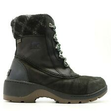 Sorel Womens Whistler Mid Black Waterproof Winter Lace Up Boots US 9 EU 40