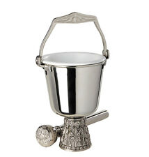 """6.5"""" Tall Holy Water Pot and Sprinkler Set  the Last Supper Collection"""