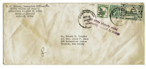 Cover from Rangoon Burma with Scott 103 109 126 stamp 1953 Diplomatic Pouch post