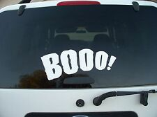 Halloween Car decal vinyl quote words wall door hoilday removeable Boo spooky