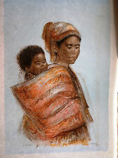 Dahlia & Child  by Edna Hibel - Hand Suigned & Numbered LTD Edition - NEW MINT