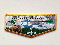 QUELQUESHOE OA LODGE 166 SERVICE FLAP SCOUT PATCH NOAC 2006 YELLOW BORDER