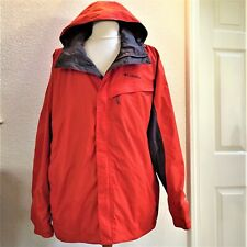 Columbia Rain Jacket XXL Omni-Tech Watertight Packable Breathable Hooded Orange