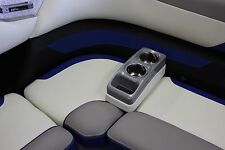 Portable Cup Holder (MarIne RV Pontoon Boat) Silver/White SS BUYCUPHOLDERS.COM