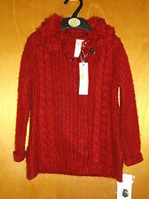 Strawberry Faire Knitted L/S Collared Cardigan Jacket 2-3yrs 92-98cm Red BNWT