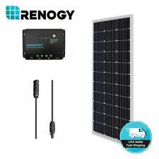 Renogy 100W Watt Mono Solar Panel Bundle Kit W/12V 30A PWM LCD Charge Controller