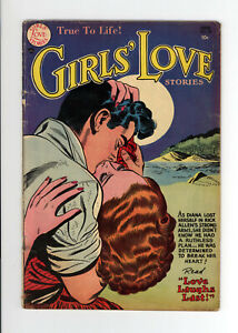 GIRLS' LOVE STORIES #29 - AWESOME COVER - VERY RARE ISSUE - 1954 DC