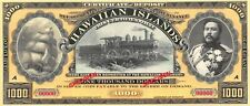 Hawaii Fantasy Art note  $1000  King D. Kalakaua  Uncirculated Banknote Mea6