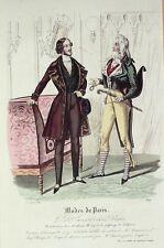 GRAVURE de MODE ANCIENNE-1419-1838-PETIT COURRIER des DAMES, Modes de Paris