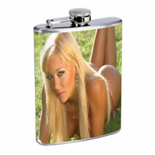 Argentina Pin Up Girls D7 Flask 8oz Stainless Steel Hip Drinking Whiskey