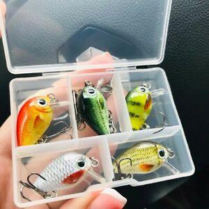 5pcs  Mini Wobblers/Crankbait Fishing Lure Artificial Bait Hard Floating Wobbler