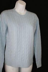 Kirkland S Light Blue Thick  100 % Cashmere  Sweater