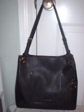 NWT Michael Kors Walsh Black Leather Medium Shoulder Tote Handbag