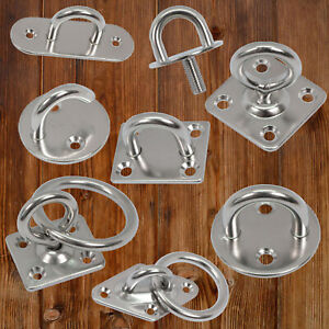 Decksplatten Augplatten Ösenplatte Deckenhaken Ring Edelstahl V2A V4A Vielfältig