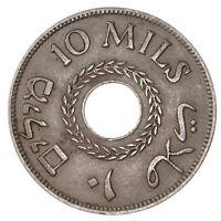 Raw 1934 Palestine 10-Mils Uncertified Ungraded Under British Mandate Coin