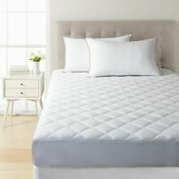 Extra Deep Quilted Mattress Bed Protector Topper Fitted Cover Double King Size