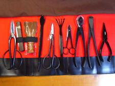 New listing Kikuwa Japanese Bonsai dwarf tree tools 10pcs set High quality New Japan Ems
