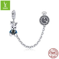 Authentic 925 Sterling Silver Accessories Magical Rabbit safe Charm Fit Bracelet